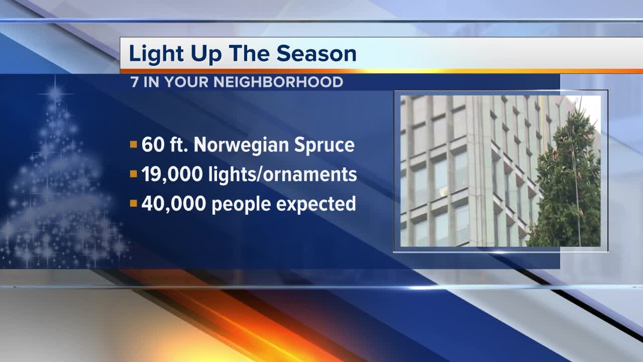 Light Up The Season in downtown Detroit