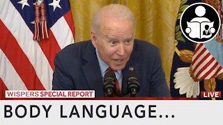 Body Language - Biden driven to wispering sweet nothings