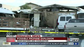 Possible propane tank explosion Friday morning