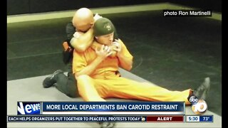 More local law enforcement agencies dropping the use of carotid restraint