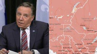 Voici les 6 régions du Québec qui passeront en zone orange dès la semaine prochaine