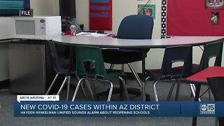 New COVID-19 cases within Arizona school district