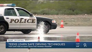 Tucson police hold teen driving training session