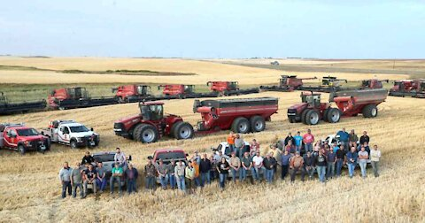 Farmers finish neighbor's harvest after heart attack