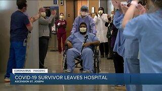COVID-19 survivor leaves hospital
