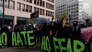 Antifa Frauds Attack, Chase Off Trump Supporters Protesting White Supremacists