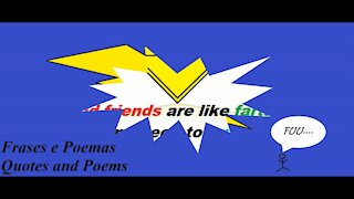 Bad friends are like farts [Quotes and Poems]