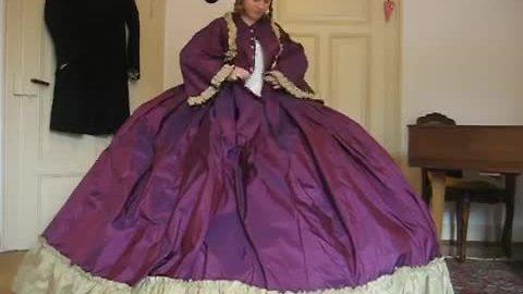 Tutorial On How To Put On Hoop Skirt And Crinoline Dress
