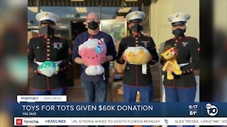 Toys For Tots program receives $60,000 donation