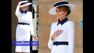 Melania Trump outfit at Buckingham Palace