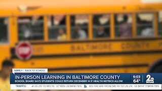 In-person learning in pushed back Baltimore County