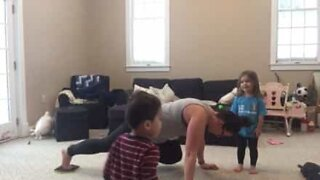 Mother of three fights to exercise