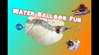 Water balloon slow motion pop