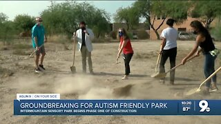 City of Tucson breaks ground on park designed for those on autism spectrum