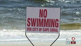 No swimming at Cape Coral Yacht Club