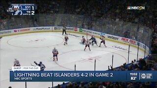 Lightning tie series 1-1 against Islanders