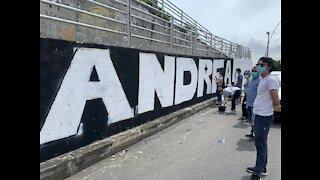 El mural en conmemoración por la muerte de la estudiante de medicina en Bucaramanga
