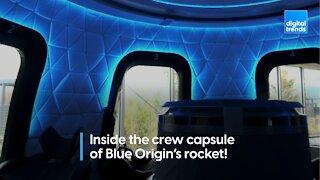 Take a tour inside Blue Origin's crew capsule for space tourists