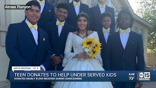 Valley teen donates Quinceañera money to help underserved kids