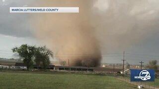 Landspout tornado near Eaton causes minor damage to several outbuildings