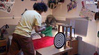Juggler targets boredom while in quarantine