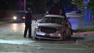 One person transported after crash on Woodland Avenue