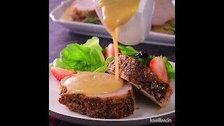 Pork Loin in Mustard Sauce
