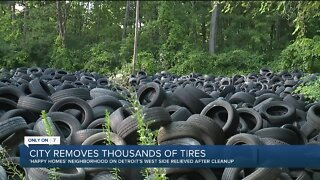 Detroit removes thousands of tires from neighborhood on west side