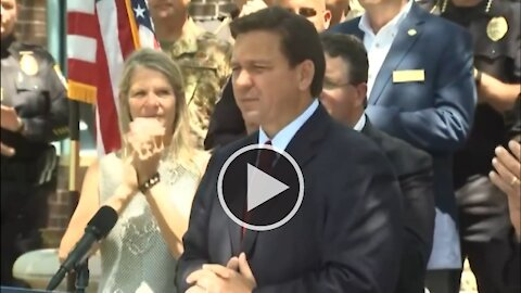 Governor DeSantis Holds Press Conference on Police Funding 5/5/21