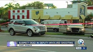 Man fatally shot by deputies in Fort Pierce