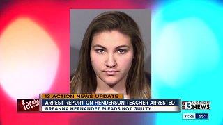 Arrest report released for Henderson teacher