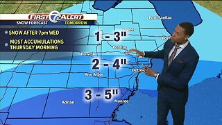 Metro Detroit Forecast: Snow arrives tomorrow night