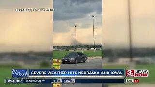 Severe weather its Nebraska and Iowa