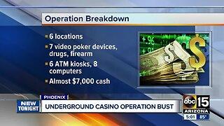 Underground casino operation busted in Phoenix