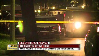 Man killed in triple shooting on Detroit west side