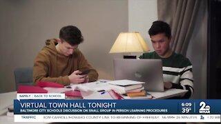 Baltimore City Public Schools virtual town hall tonight