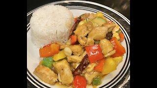 How to make Chicken KUNG PAO quick/easy homemade ឆារសាច់មាន់ខងប៉ូវ