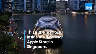 First Look Inside the Floating Apple Store