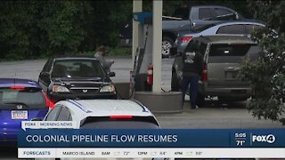Fuel returns to Colonial pipeline