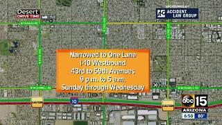 Weekend freeway closures across Valley