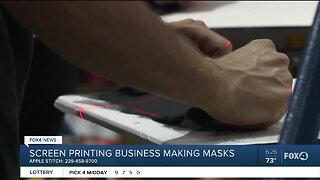 Screen printing business making masks