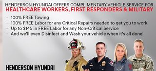 Henderson Hyundai offering free services to frontline workers