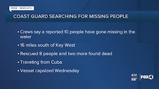 Coast Guard searching for 10 people missing in the water near Key West