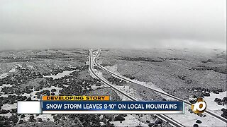 Mountain roads reopen after snow, but CHP expecting busy weekend
