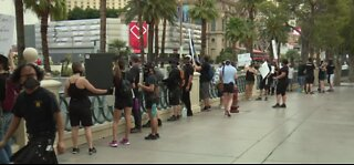 Las Vegas entertainers took to Vegas Strip