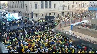 SOUTH AFRICA - Johannesburg - ANC CBD celebrations (videos) (F4q)