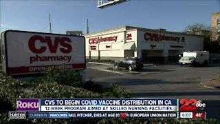 CVS to begin COVID vaccine distribution in Calif.