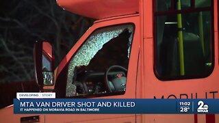 MTA van driver shot and killed