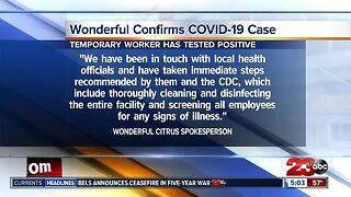 Wonderful Citrus confirms case
