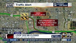 Loop 202 shut down after serious crash